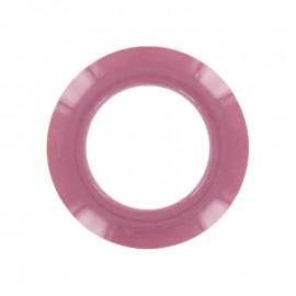 Oeillet à clipper plastique rond - Vieux Rose