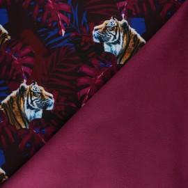 Tissu Softshell Tigre - rose x 10cm