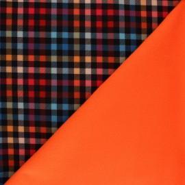 Tissu Softshell Petits carreaux - rouge x 10cm