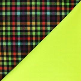 Tissu Softshell Petits carreaux - jaune x 10cm