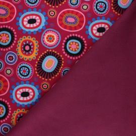 Tissu Softshell Automne pop - rose x 10cm