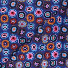 Poplin fabric - Purple Hatton flowers x 10cm