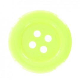 Clown button - fluorescent yellow