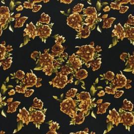 Tissu Viscose Paola - Noir x 10cm
