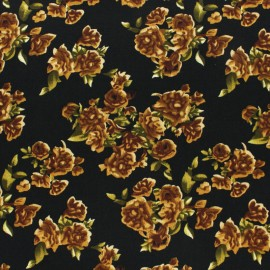 Viscose Fabric - Black Paola x 10cm