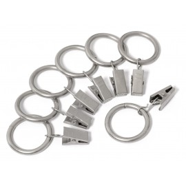 Curtain Clip Rings (10 Pack) - Silver