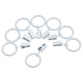 Curtain Clip Rings (10 Pack) - White
