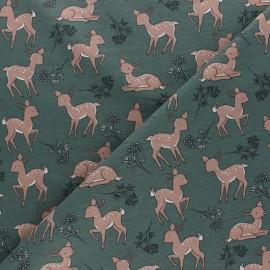 Tissu jersey Bichette - vert x 10cm