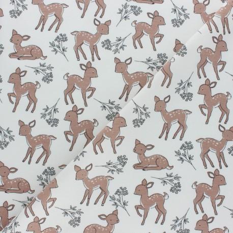 Cotton Jersey fabric - white Bichette x 10cm