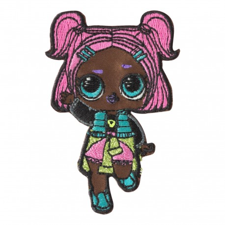 Choice big eyed dolls lol 3 per email choice Iron on fabric applique