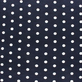 Viscose Jersey Fabric - Navy Blue Dotty x 10 cm