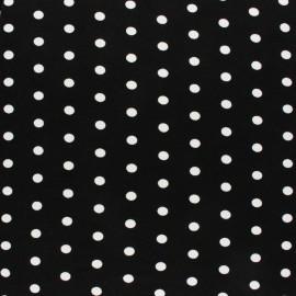 Tissu Jersey Viscose Dotty - noir x 10 cm
