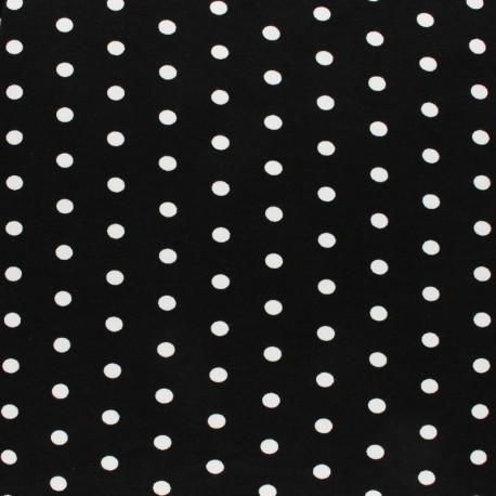 Viscose Jersey Fabric - Navy Blue Dotty x 10 cm