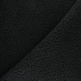 Tissu fourrure Astrakan Kiruna - noir x 10cm