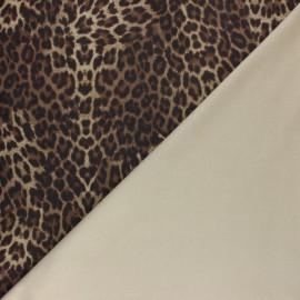 Suede elastane fabric - Camel Lorena x 10cm
