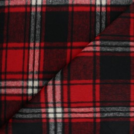 Coat sheet Fabric - Red/Black Montréal x 10cm