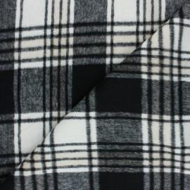 ♥ Coupon 100 cm X 145 cm ♥ Tissu Drap manteau Mullardoch - blanc/noir