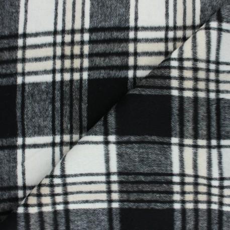 Tissu Drap manteau Mullardoch - rouge/noir x 10cm