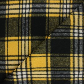Tissu Drap manteau Mullardoch - jaune/noir x 10cm