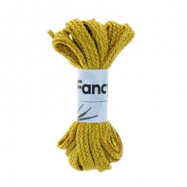 130 cm Woolen Aspect Braided Lace (By Pair) - Yellow