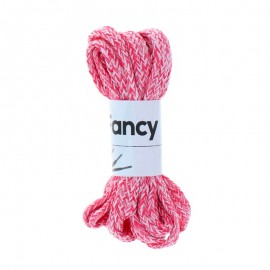 130 cm Woolen Aspect Braided Lace (By Pair) - Fuchsia