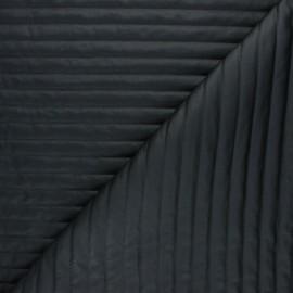 Tissu matelassé linea - noir x 10cm