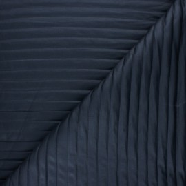 ♥ Coupon 10 cm X 150 cm ♥ Tissu matelassé linea - bleu marine