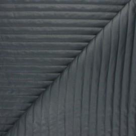 ♥ Coupon 190 cm X 150 cm ♥  Tissu matelassé linea - gris