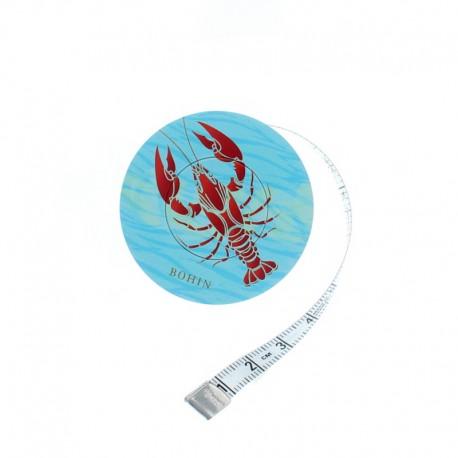 Mètre ruban enrouleur Bohin - Homard rouge