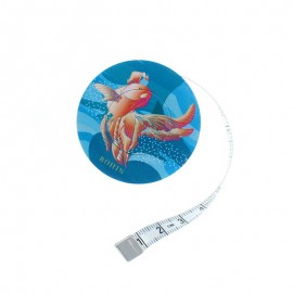 Bohin retractable measuring tape - Orange Poisson