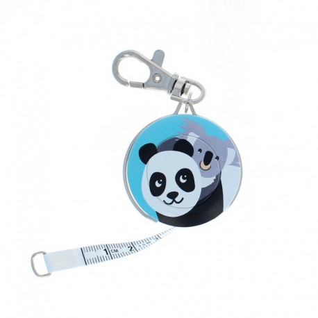 Bohin retractable measuring tape key ring - Panda x Koala