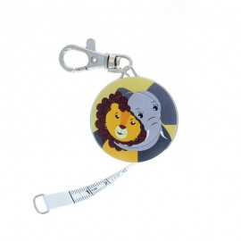 Bohin retractable measuring tape key ring - Elephant x Lion