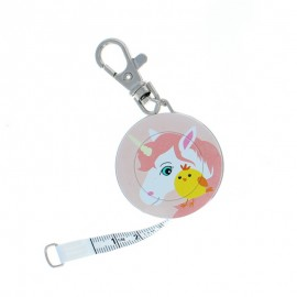 Bohin retractable measuring tape key ring - Licorne x Poussin