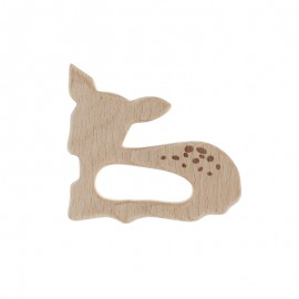 Natural wood teething ring - hind