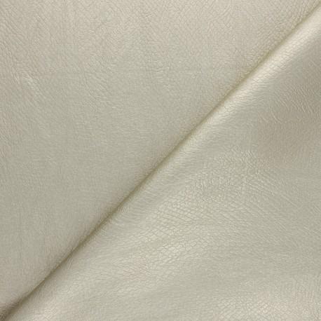 Imitation leather fabric - Gold Snake x 10cm