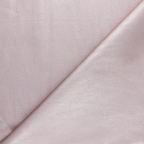 Tissu Simili cuir souple Serpent métallique - rose gold x 10cm