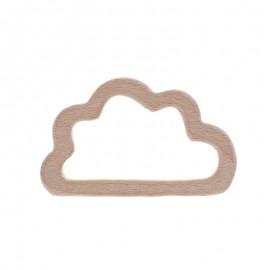 Anneau de dentition bois naturel - petit nuage