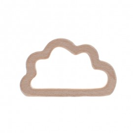 Natural wood teething ring - little cloud
