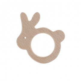 Natural wood teething ring - lapinou