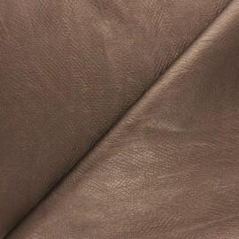 Tissu Simili cuir souple Serpent métallique - bronze x 10cm