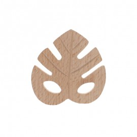 Natural wood teething ring - leaf