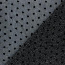 Velvet dotted glittery tulle fabric - gold Arielle x 10cm