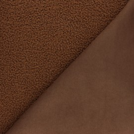 Astrakhan Fur fabric - Rust Maximus x 10cm