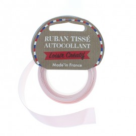 Rouleau de Ruban Satin Autocollant 15 mm - Rose