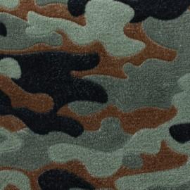 Tissu Doudou simple face Petit Faon - gris x 10cm