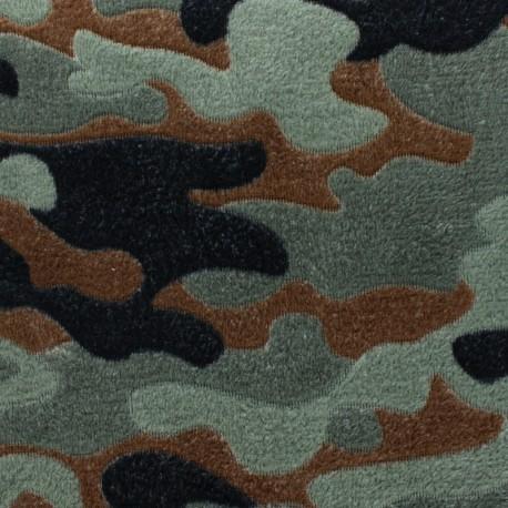 Single sided baby's security blanket - Grey Pretty fawn x 10cm