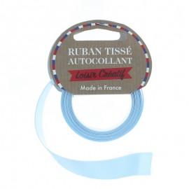 Rouleau de Ruban Satin Autocollant 15 mm - Bleu
