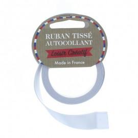 Rouleau de Ruban Satin Autocollant 15 mm - Gris perle