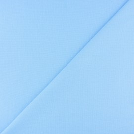 Jersey tubulaire bord-côte - bleu ciel x 10cm