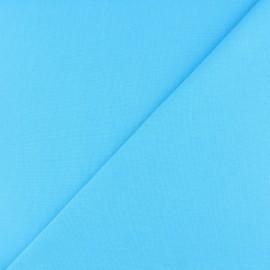 Jersey tubulaire bord-côte - bleu turquoise x 10cm